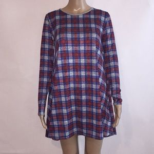 EUC Missguided plaid t shirt dress Sz 4